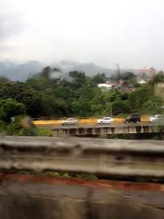 Rain on highway in Costa Rica