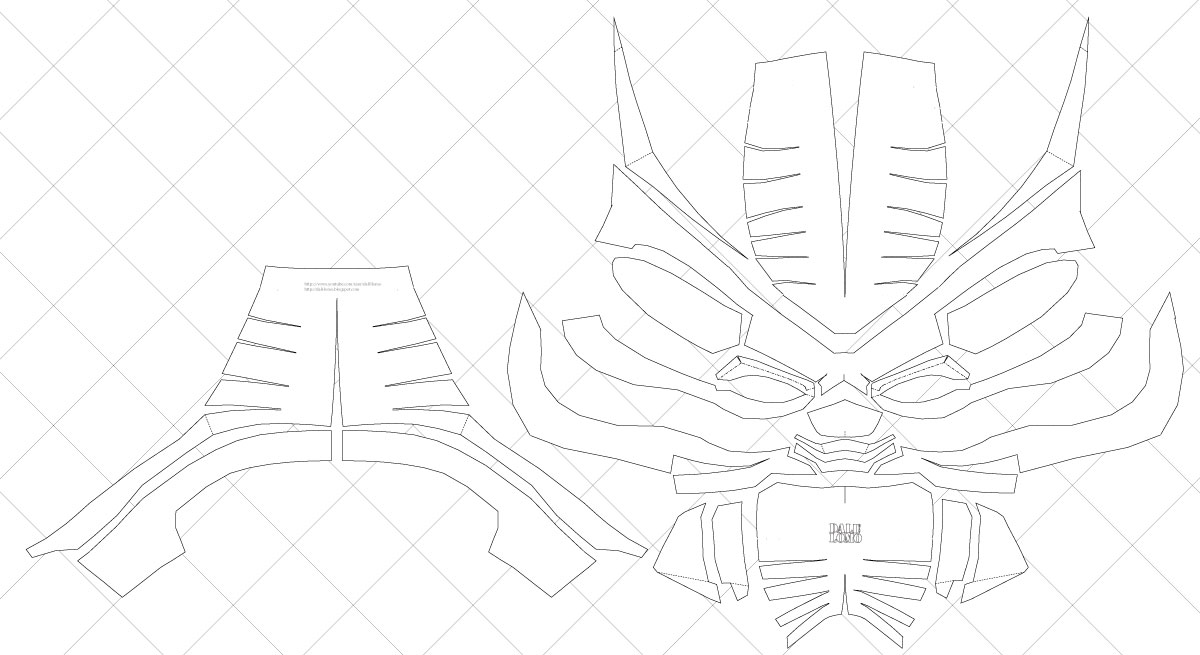 Dali-Lomo How to Make Your Own Black Panther Helmet PDF Template - make your own template