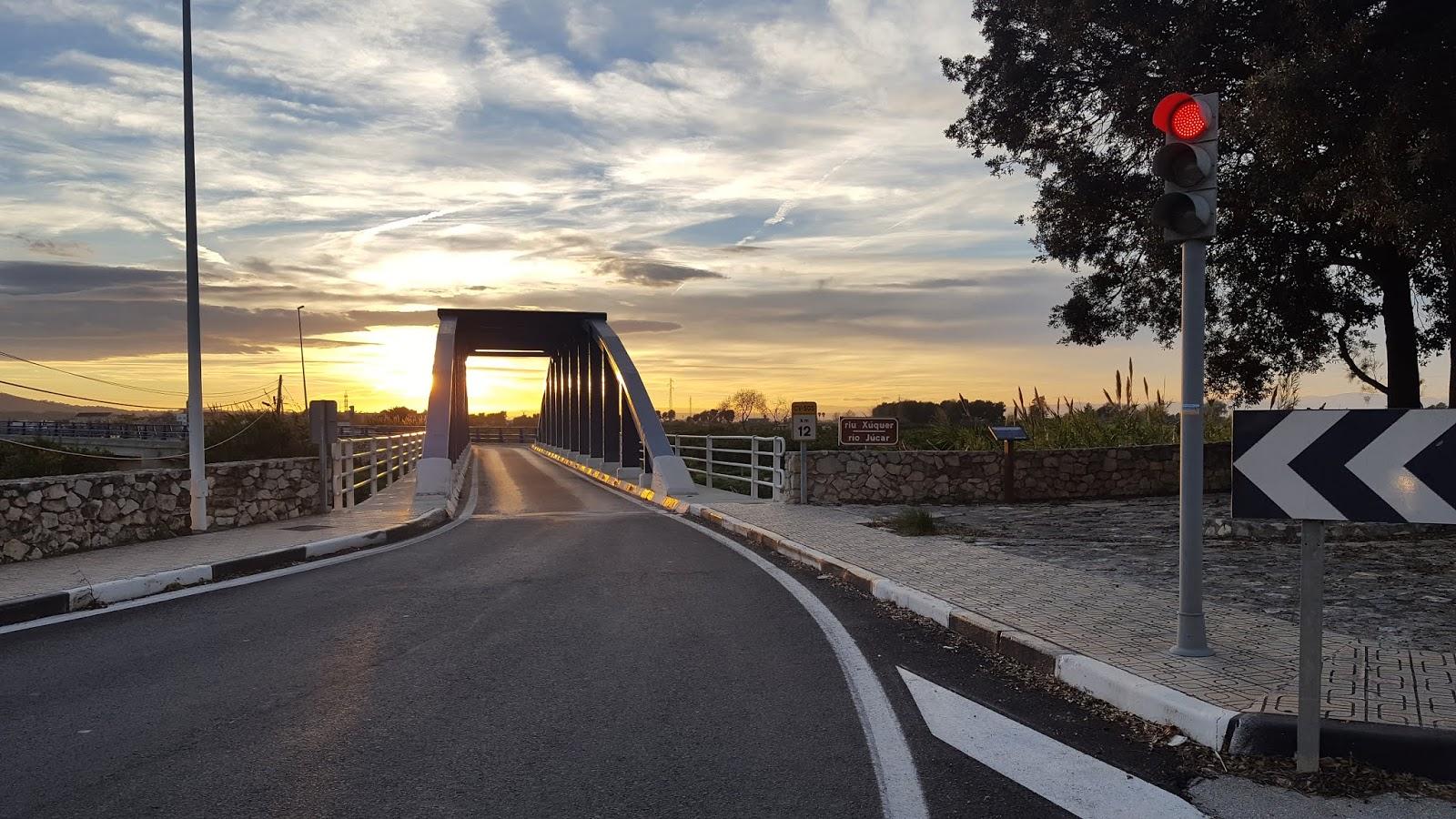 Iron bridge over the River Júcar at Riola, Valencia