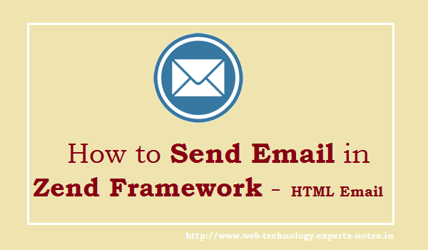 How to send Email in Zend Framework - HTML Email