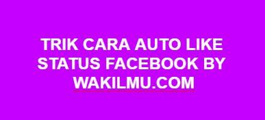Trik Cara Auto Like Facebook Menggunakan Aplikasi 4Liker