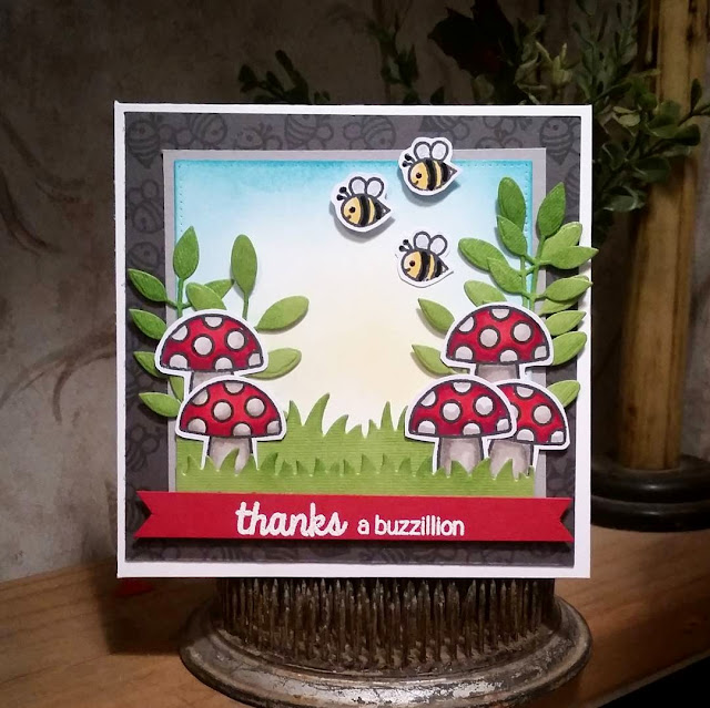 Sunny Studio Stamps: Backyard Bugs Thank You Card by Rebekah Weckerly