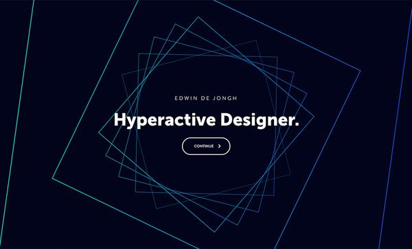 Trend and Inspiration Web Design 2018 - Portfolio of Edwin de Jongh