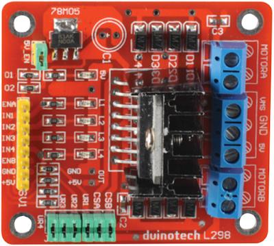 Duinotech L298 module (arduinobasics.blogspot.com)
