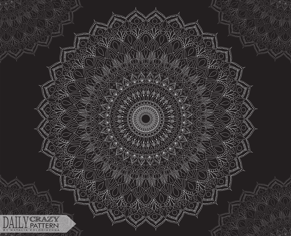 "Mandala for ""Daily Crazy Pattern"" project"