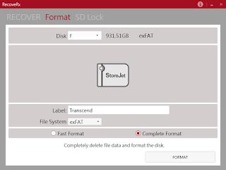 Transcend StoreJet device format
