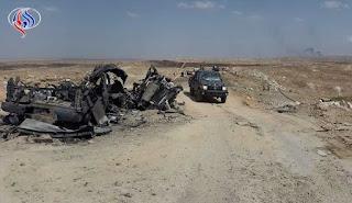 """قصف للطائرات العراقية يسفر عن تدمير 3 عجلات مفخخة وقتل عدد من عناصر """"داعش"""" غرب الأنبار !"""