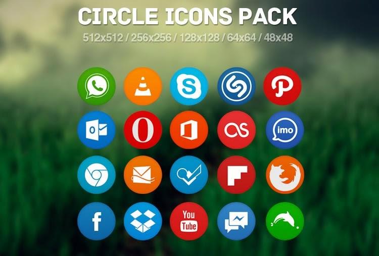 Circle Flat Icon Pack