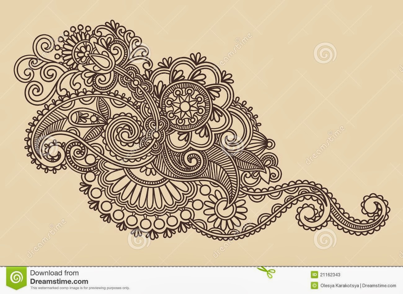 Henna Style Drawings | makedes.com
