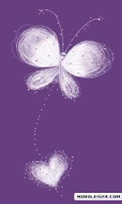 Android Phones Wallpapers Android Wallpapers Hearts Purple Butterfly