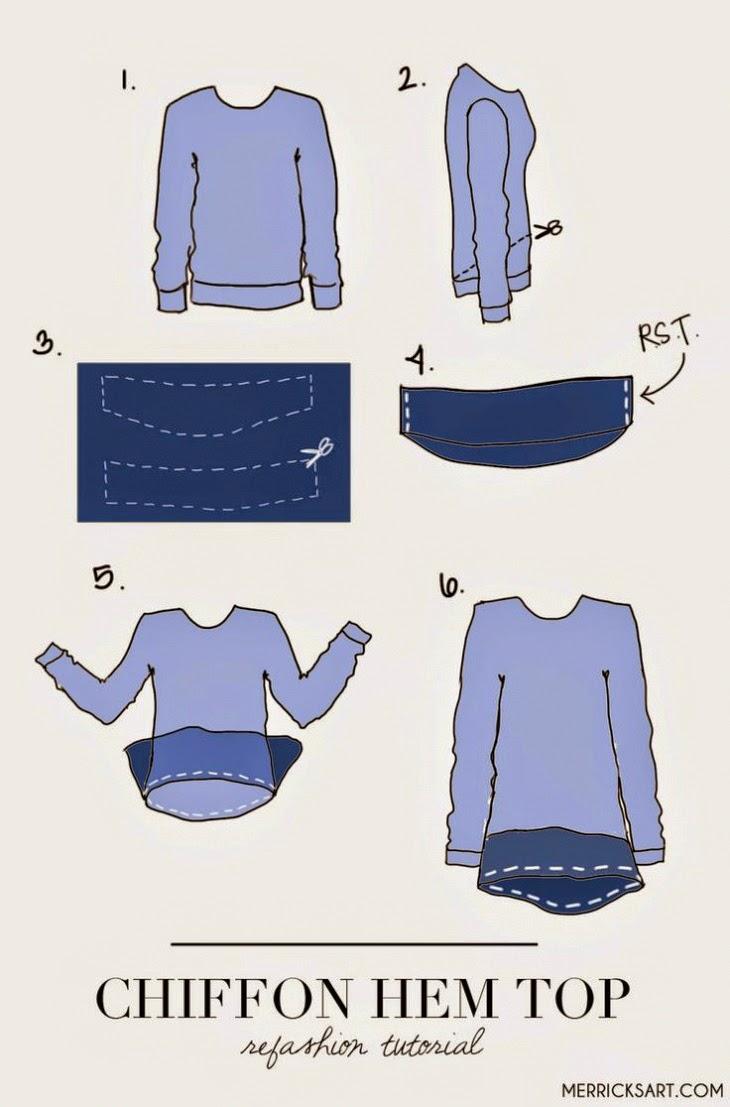 Alargar un jersey o camiseta tutorial