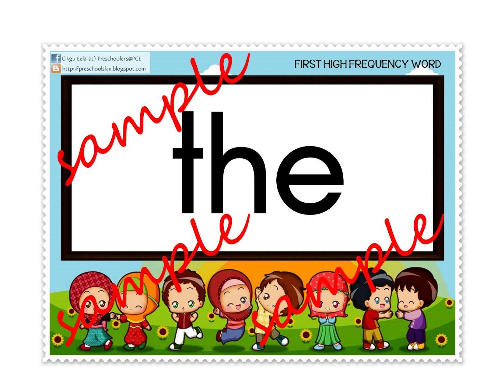 Cikgu Eela Il Preschoolers Pce High Frequency Words
