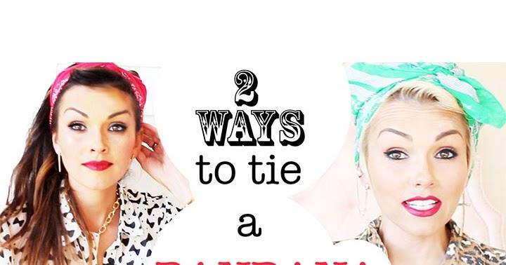 Kandeej Com How To Tie A Bandana In Your Hair 2 Ways