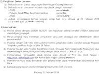 Rekrutmen Bank Nagari Tahun 2019 - Mentawai Sumatera Barat