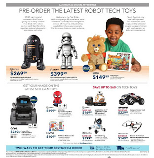 Pre Order the latest robot Tech Toys Best Buy Oct 20 - 26, 2017