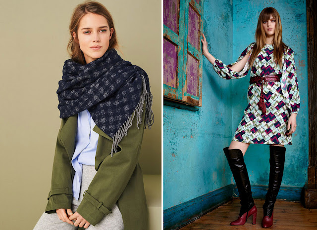 Сочетание синего и зеленого, фиолетового и розового в одежде