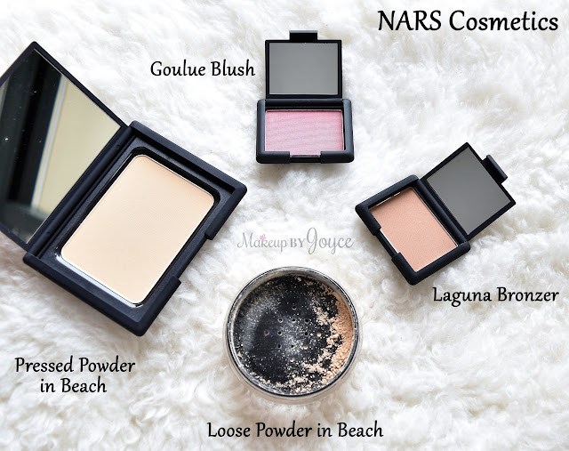 Nars Pressed Powder in Beach Compact Size Packaging Comparison