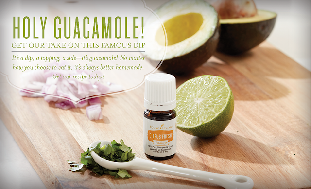 Guacamole using new Vitality Essential Oils