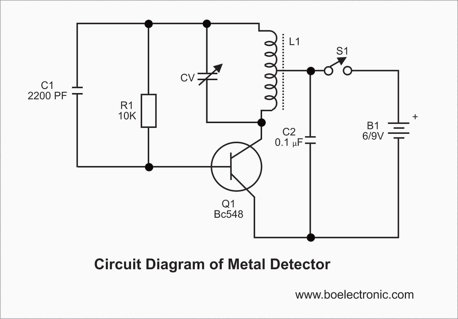 gold detector circuit diagram taco wiring metal and working  readingrat
