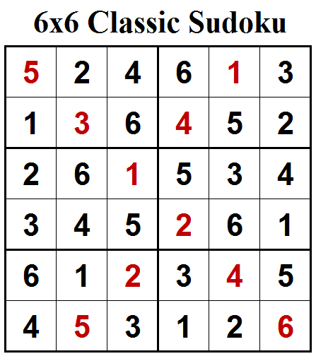 Classic Sudoku (Mini Sudoku Series #80) Solution