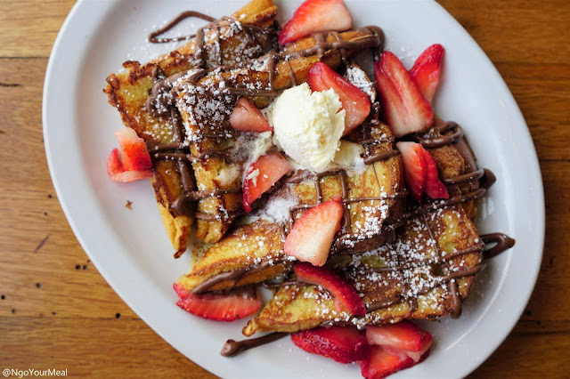 Nutella and Strawberry French Toast at Milkweed in Boston