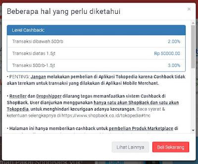 Cara mendapatkan cashback dari Shopback saat belanja Online