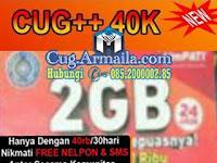 CUG Data 2GB 40 Ribu Unlimited SMS Nelpon