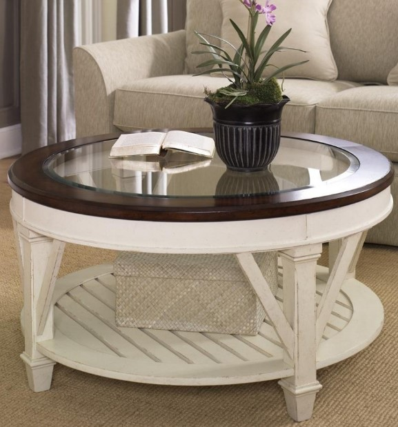 Round Glass Table In Living Room
