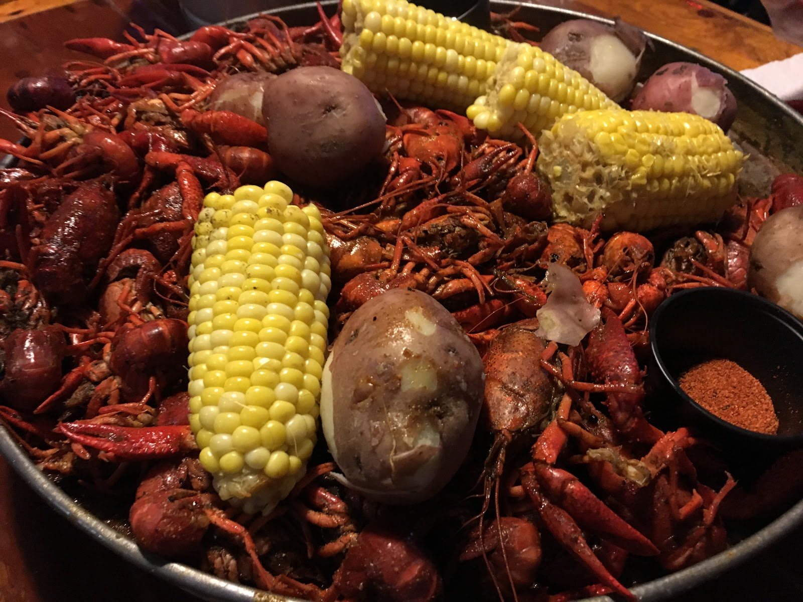 Crawfish, crawfish boil, corn, crawfish season, Crazy Alan's Swamp Shack Kemah Texas