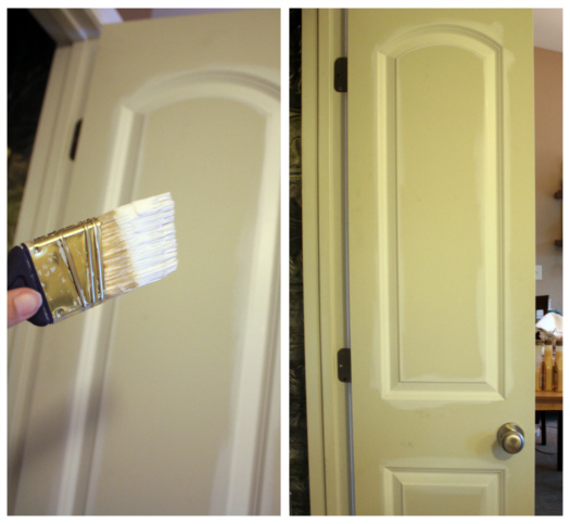 Painting Wood Trim White Before And After: IHeart Organizing: FINALLY! How To Paint Cabinets & Trim