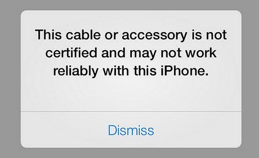 山寨宣布破解 iOS 7 非官方 Lightning 配件認證