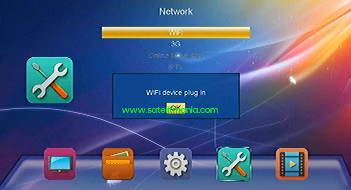 Deteksi WiFi di Receiver Skybox A1