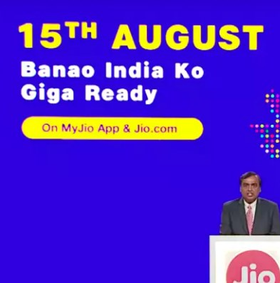 Jio GigaFiber Broadband Bookings Start August 15 on MyJio, JIo.com