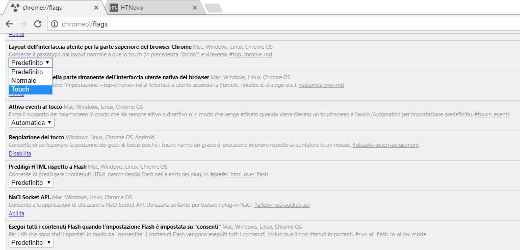 Come modificare la grandezza degli elementi UI di Google Chrome 2 HTNovo