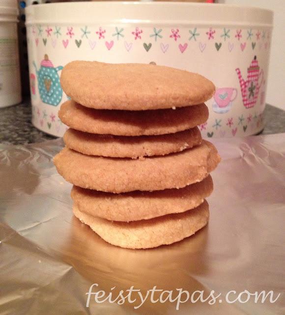 Shortbread biscuits / Galletas de mantequilla (Thermomix)