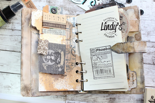Mixed Media Steampunk Planner workshop by Phoebe Tonosaki