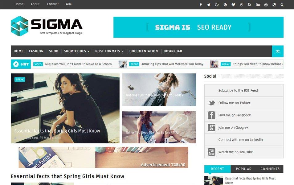 Top 5 best free seo and adsense friendly templates it sabaq description sigma is a responsive blogger template maxwellsz