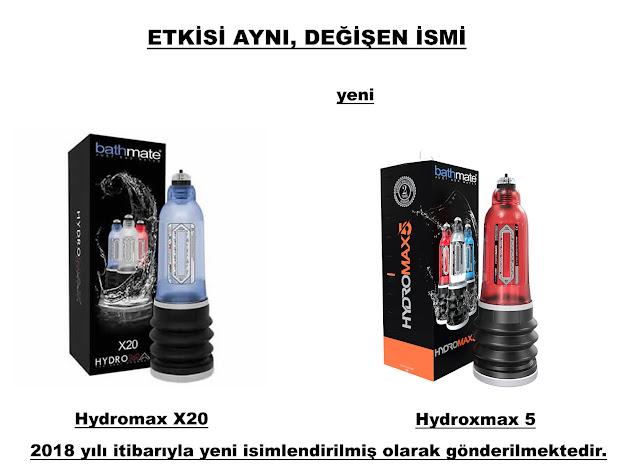 Bathmate Hydromax X20 Kırmızı renk artık Bathmate Hydromax 5 oldu.