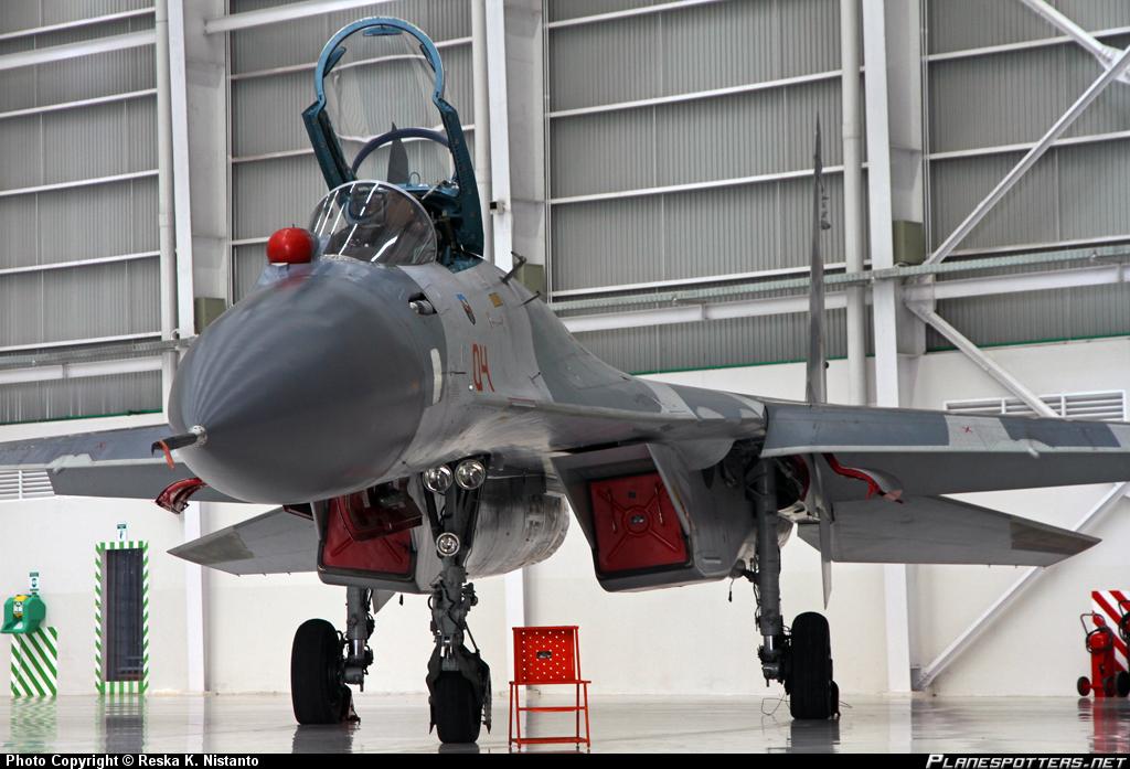 Pesawat Su-27SKM TNI AU (photo : Reska KN)