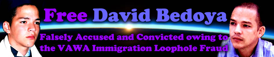 Free David Bedoya - Falsely Accused and Convicted - VAWA Immigration Loophole Fraud