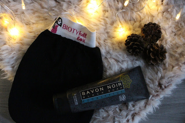 savon noir eucalyptus + son gant de gommage