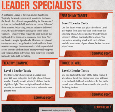 Líderes Especialistas Kill Team
