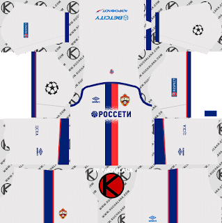 CSKA Moscow 2018/19 Kit - Dream League Soccer Kits