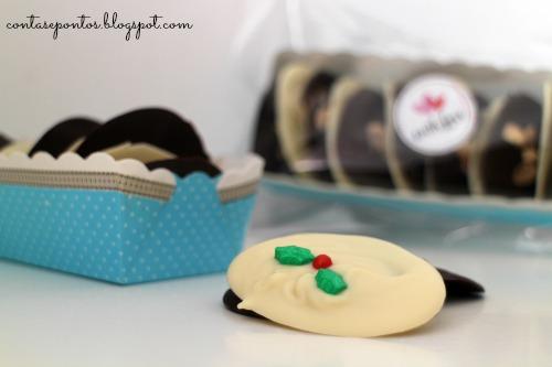Cabaz de Natal - discos de chocolate
