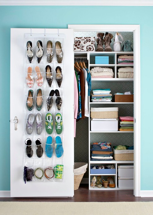 How to modify small closet in your home simple seo red - Storage solutions for small closets ...