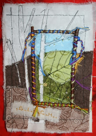 Fabric Art Journal Page - Birch