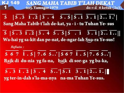Lirik dan Not Kidung Jemaat 149 Sang Maha Tabib T'lah Dekat