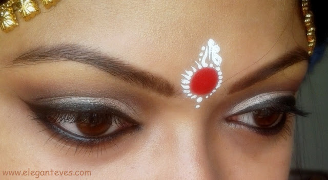 Bengali Bridal Eye Makeup, Soft Taupe Smokey Eyes