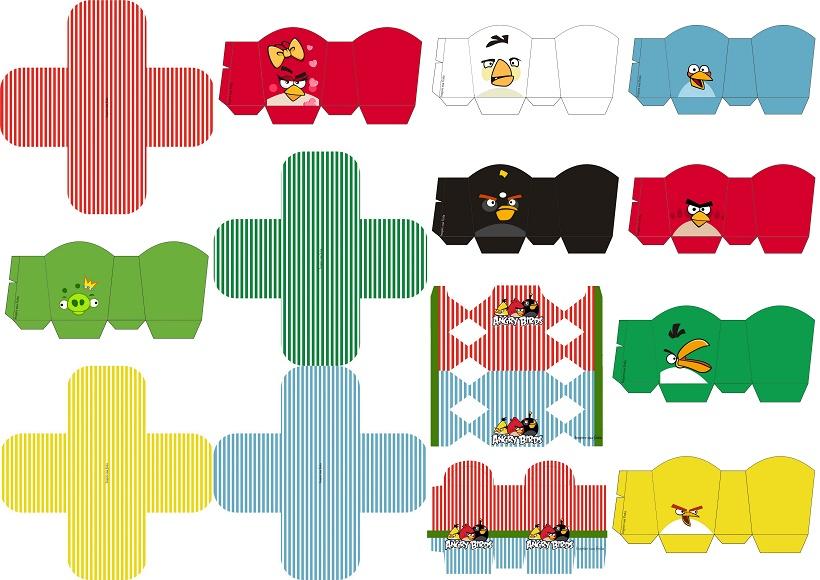 Desenhos Para Imprimir Do Angry Birds: Moldes Angry Birds Para Imprimir Gratis: Banderines De