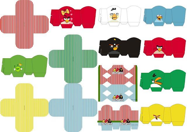 Angry Birds: Cajas para Fiestas para Imprimir Gratis.